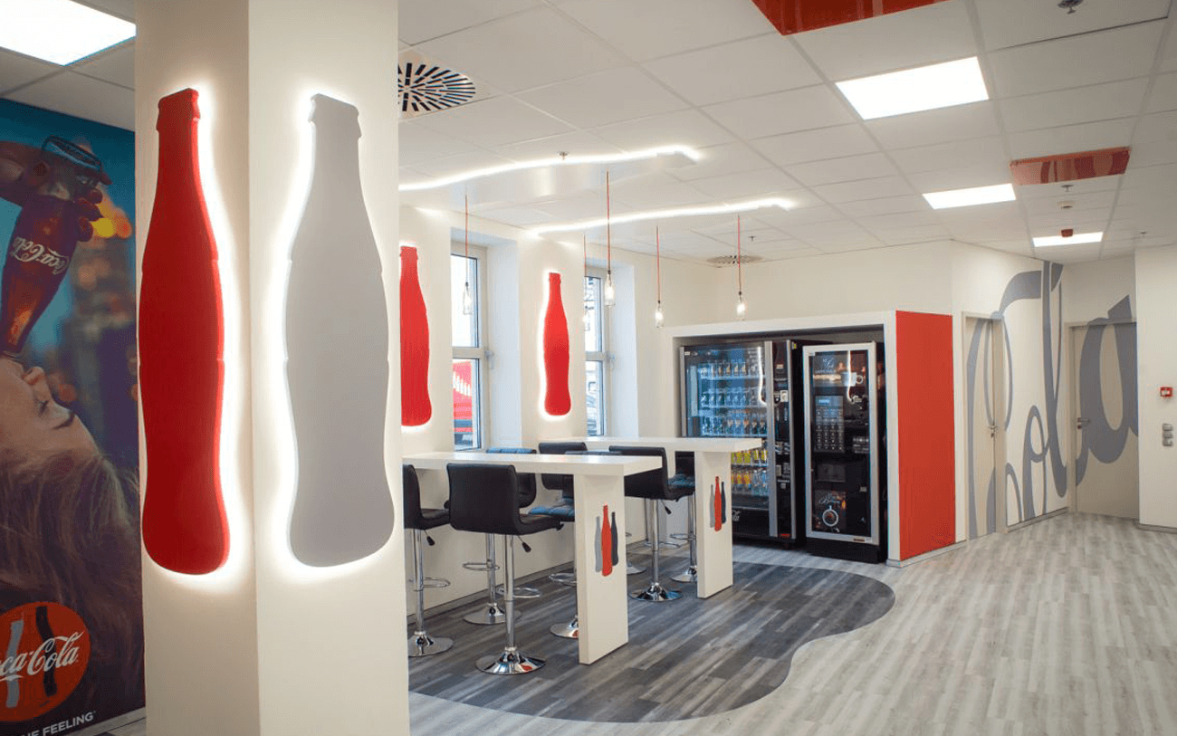 Coca-Cola workplace branding