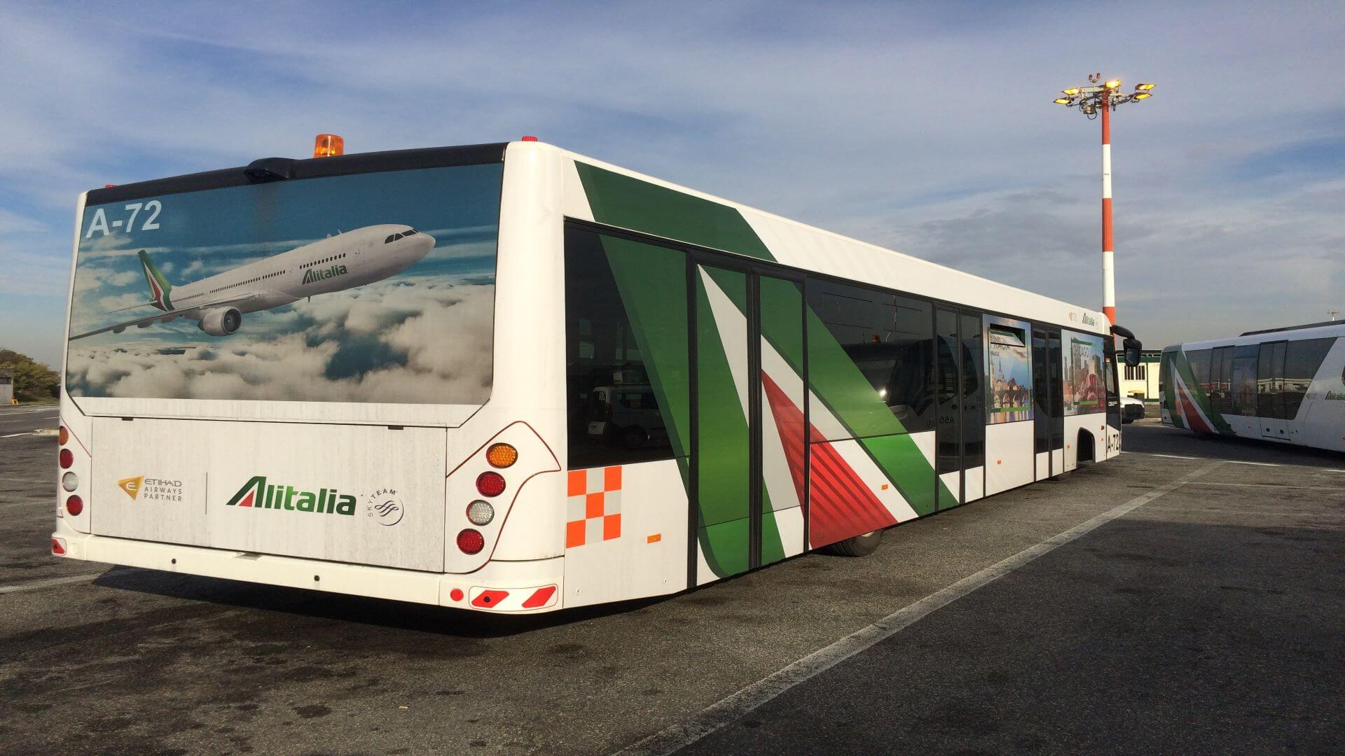 Alitalia rebrand implementation